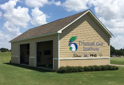 The practice facility at Triumph Golf Institute in Houston